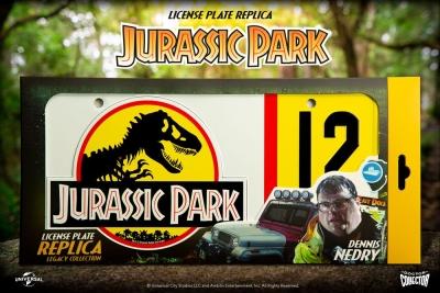 Jurassic Park Replica Dennis Nedry License Plate