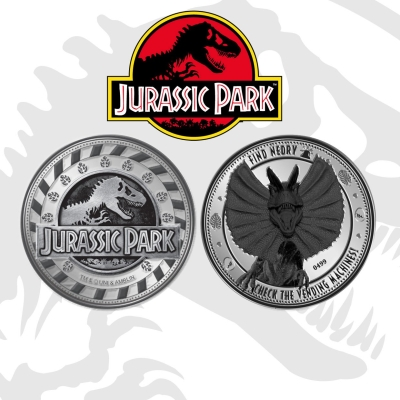 Jurassic Park Collectable Coin Find Nerdy - Dilophosaurus
