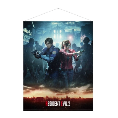 Resident Evil Wallscroll Leon Claire