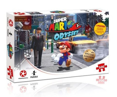 Super Mario Odyssey Puzzle New Donk City incl. Poster