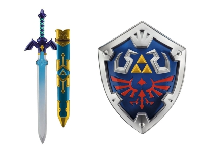 The Legend of Zelda Link Replica Master Sword and Hylian Shield
