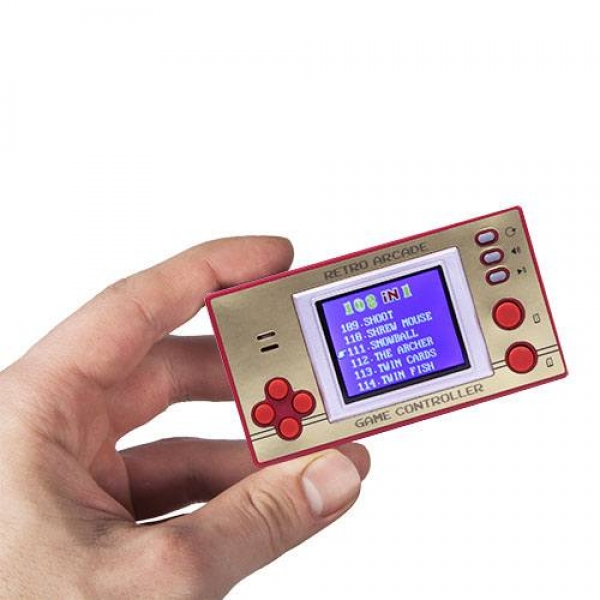 "Retro Arcade Games - 1,8"" LCD Display Game Console incl. 108 x 8-Bit Games"
